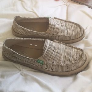 Tan Sanuk Loafers